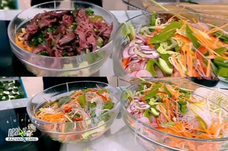 Rețetă de salată din bucătăria asiatică, preparată de Chef Nicolai Tand la Neatza cu Răzvan și Dani