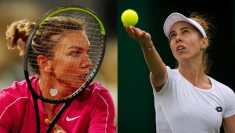 Simona Halep și Mihaela Buzărnescu la Australian Open 2021.