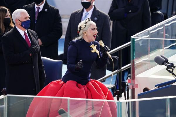 lady gaga la ceremonia de investire a lui joe biden