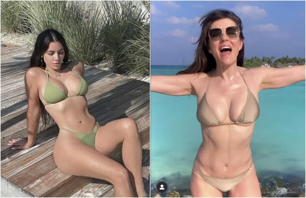 colaj elizabeth hurley, kim kardashian, bikini