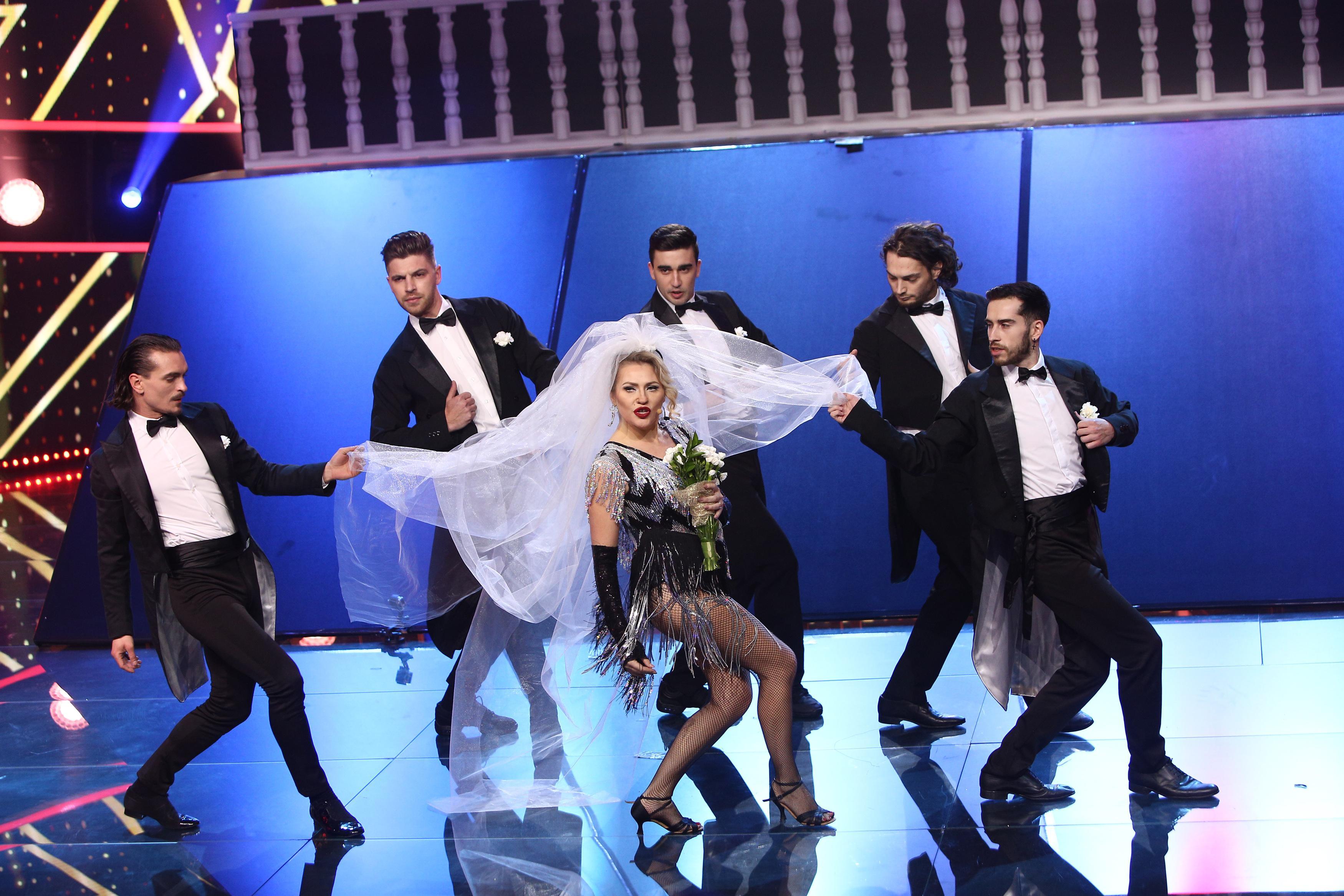 Te cunosc de undeva, 13 februarie 2021. Mirela Vaida, show total și cea mai sexy deghizare, transformată în Madonna