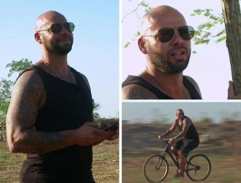 colaj foto cu Giani Kiriță la Poftiți la circ, în timp ce poartă ochelari sau merge cu bicicleta