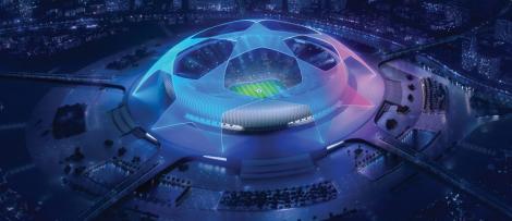 imagine ilustrativă cu un stadion de fotbal