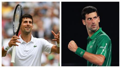 Colaj cu Novak Djokovic pe terenul de tenis
