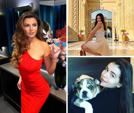 Monica Gabor  in doua ipostaze diferite si Ramona Gabor intr-o rochie rosie