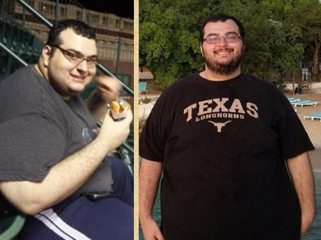 colaj foto cu Amer Islamail pe vremea când avea 213 kilograme