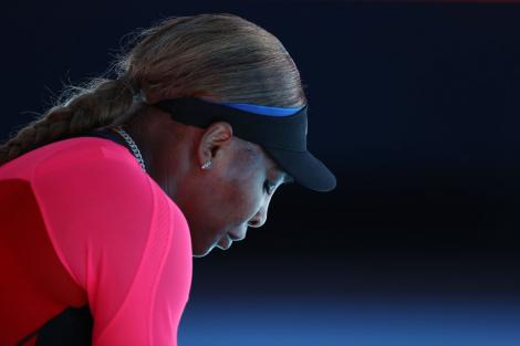 Serena Williams, pe terenul de tenis, la Australian Open 2021