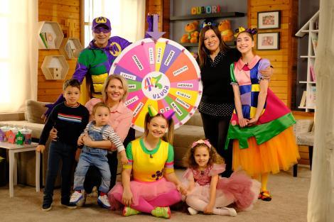 Mirela Vaida și copiii săi, în Casa Zurli, cu Mirela Retegan