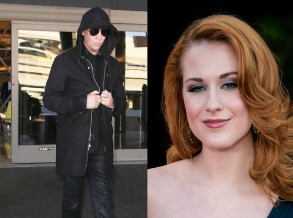 colaj foto cu Marilyn Manson (stânga) și Evan Rachel Wood (dreapta)