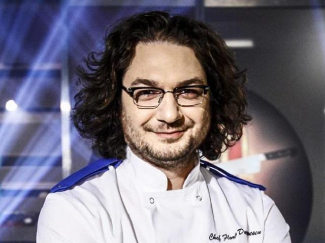 "portret Florin Dumitrescu, juratul emisiunii ""Chefi la cuțite"""