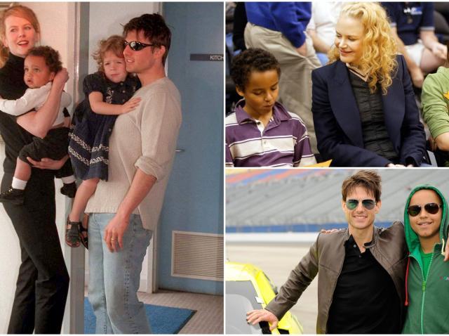 Colaj Nicole Kidman, Tom Cruis si Connor Cruise cand era mic