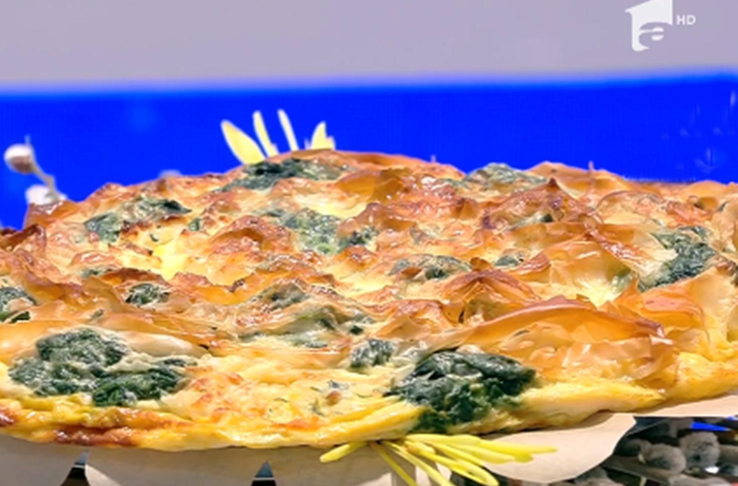 Rețetă de plăcintă cu brânză și spanac, preparată de Vlăduț la Neatza cu Răzvan și Dani