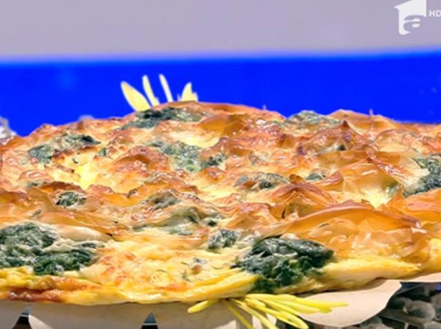 Inspirată din bucătăria grecească, plăcinta cu brânză și spanac este un preparat gustos de primăvara