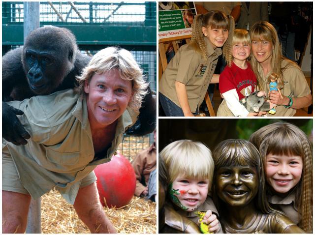 Colaj cu Robert Irwin și cei doi copii ai săi, Bindi și Robert