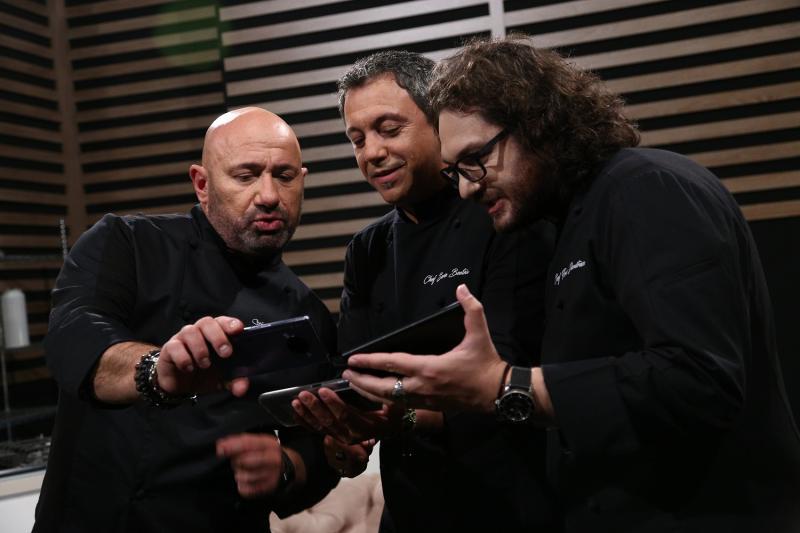 """Cătălin Scărlătescu, Sorin Bontea și Florin Dumitrescu în sezonul 9 """"Chefi la cuțite"""""""