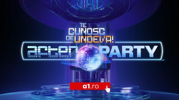 """Imagine ilustrativă cu logo-ul """"Te cunosc de undeva! After party"""""""