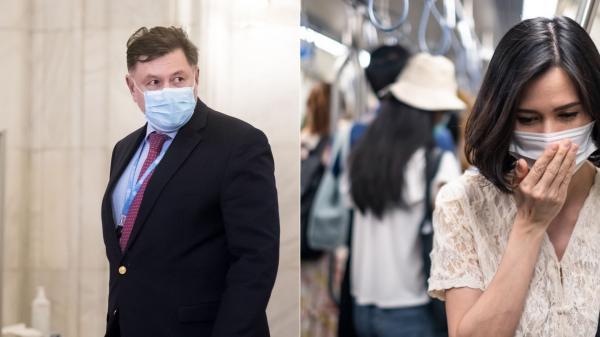 alexandru rafila si persoane care poarta masti pana se termina pandemia de covid 19