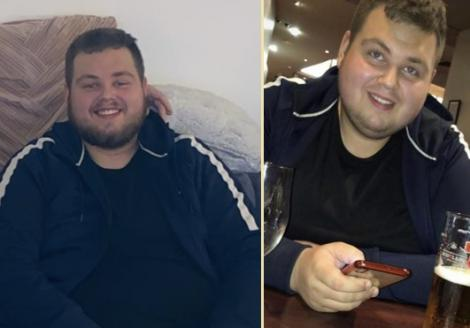 Marcin Polek pe vremea când avea 190 de kilograme  (colaj foto)