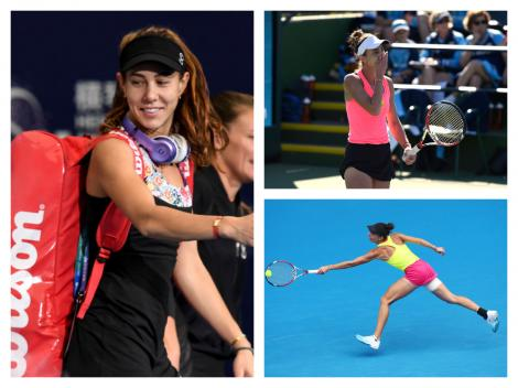 Colaj cu Mihaela Buzărnescu pe terenul de tenis