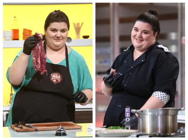 Colaj cu Claudia Radu, gătind în sezonul 8 Chefi la cuțite
