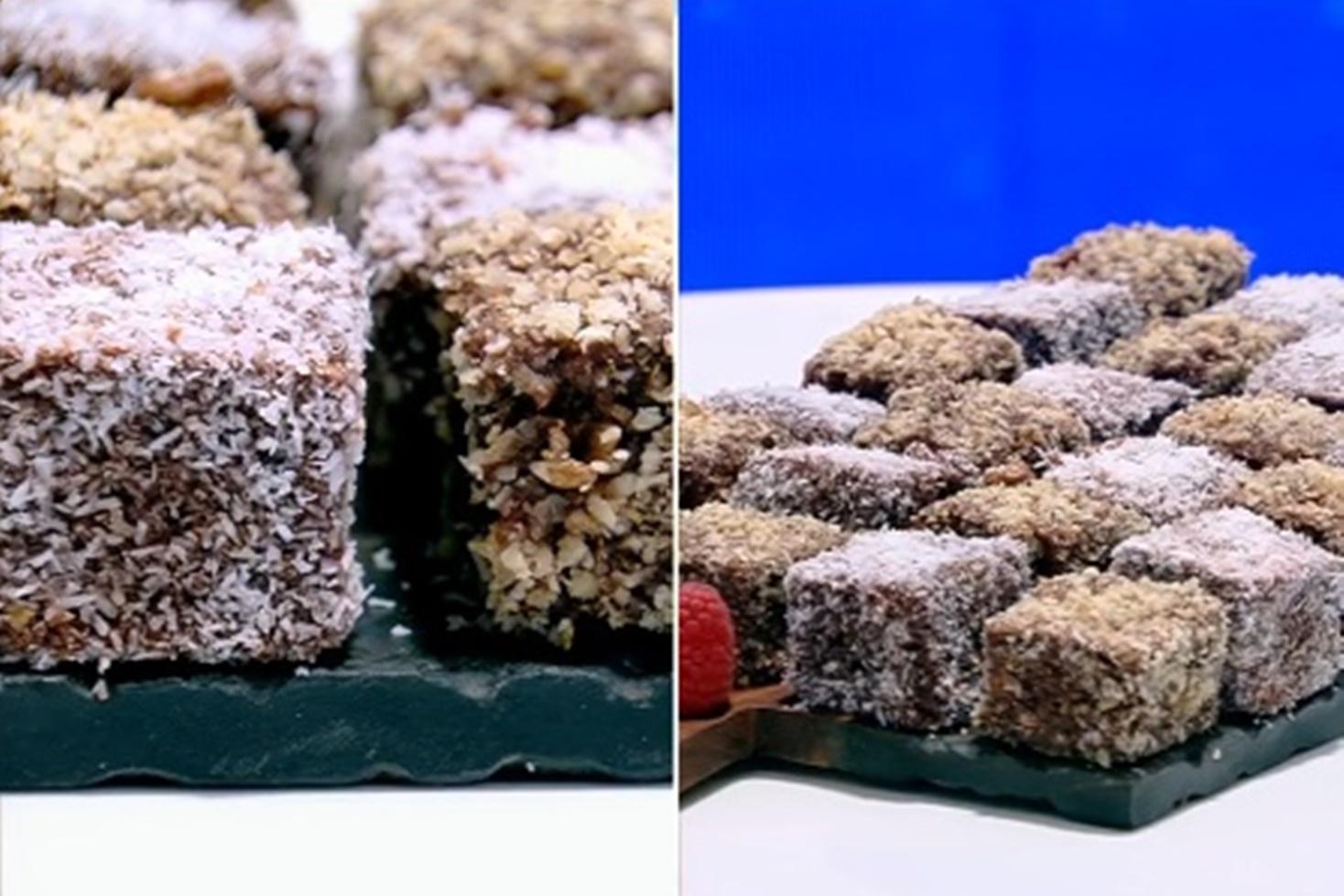Rețetă de prăjitură tăvălită prin nucă și nucă de cocos, preparată de Vlăduț la Neatza cu Răzvan şi Dani