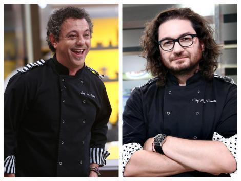 Colaj cu Sorin Bontea și Florin Dumitrescu în bucătăria emisiunii Chefi la cuțite