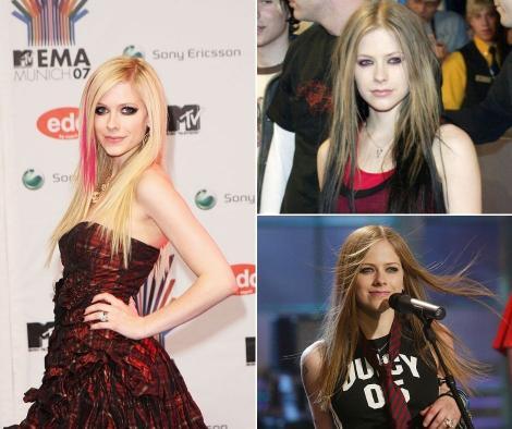 Avril Lavigne in trei ipostaze diferite