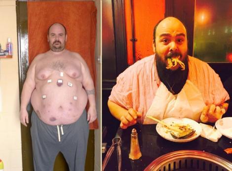 Jonny Bonello pe vremea când avea 190 de kilograme (colaj foto)