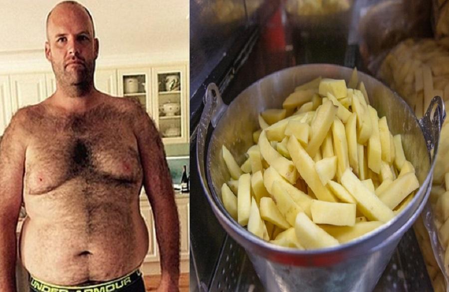 Andrew Taylor avea 151 de kilograme când a decis să mănânce doar cartofi timp de un an, la fiecare masă. Cum arată acum