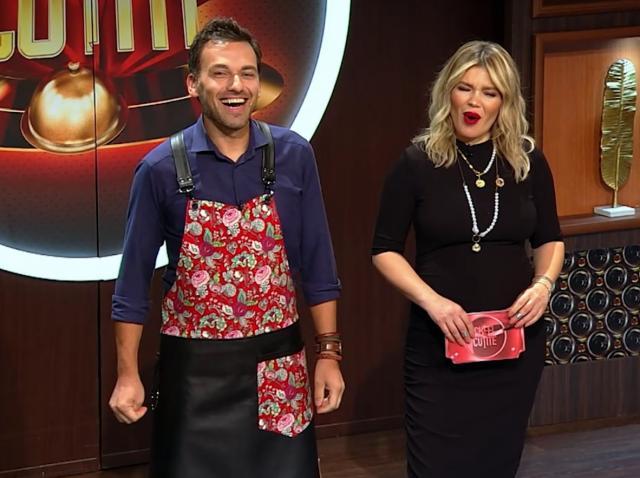 """chef Ștefan Popescu și Gina Pistol la """"Chefi la cuțite"""" sezonul 9"""