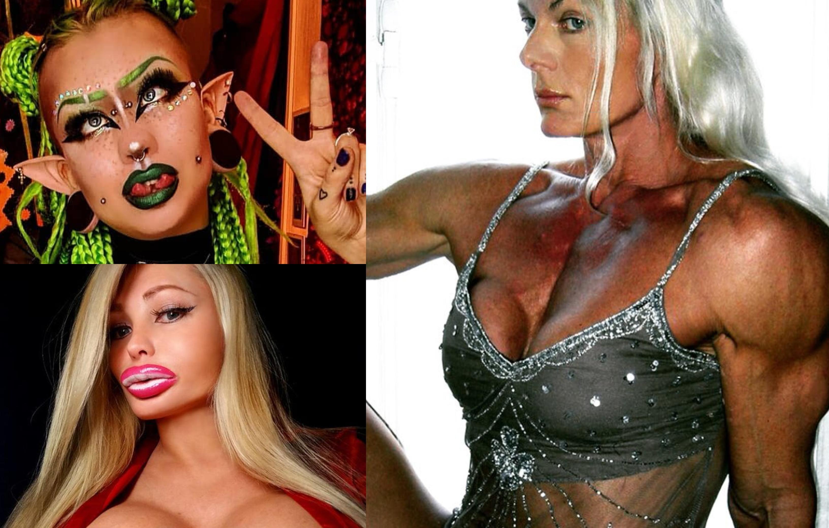Femeile care au înțeles frumusețea greșit! Cum arătau înainte de a se supune la prea multe operații și trucuri bizare