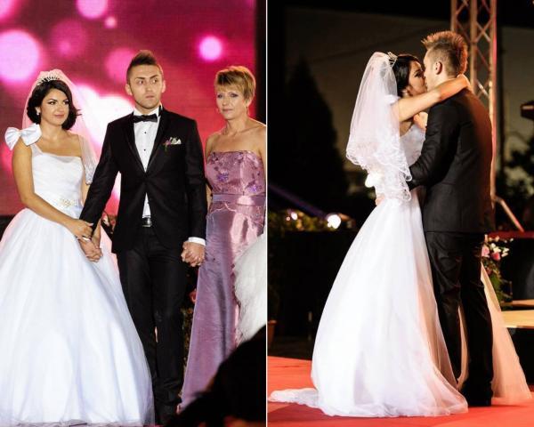 colaj de imagini cu andreea si alin stoica de la mpfm la nunta lor