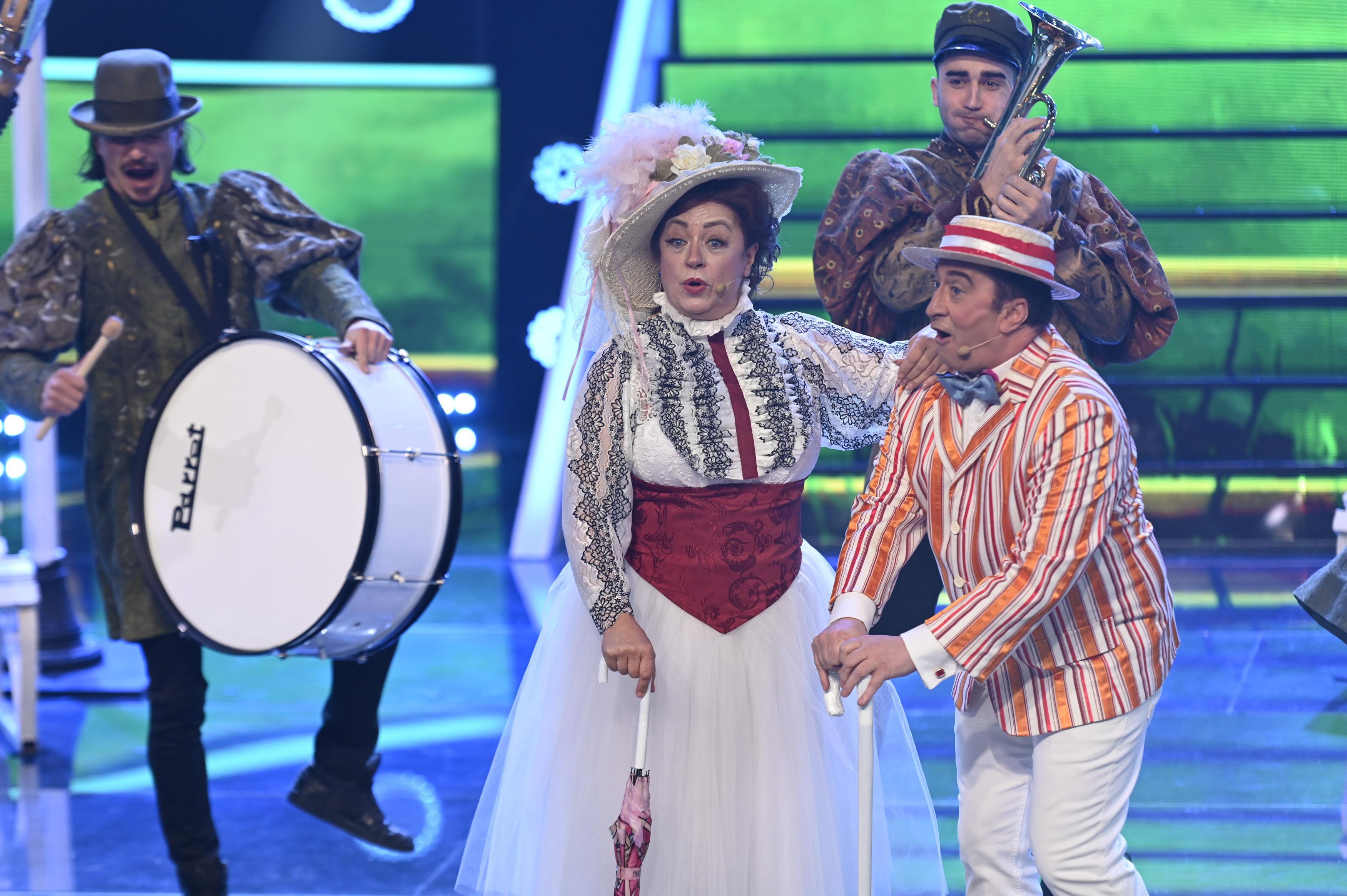 Te cunosc de undeva, 13 martie 2021. Adriana Trandafir și Romică Țociu, moment plin de energie redat din filmul Mary Poppins