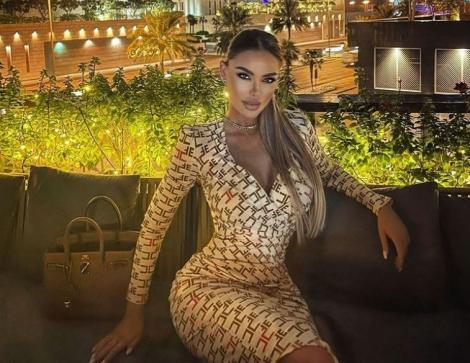 Bianca Drăgușanu într-o rochie mulată crem