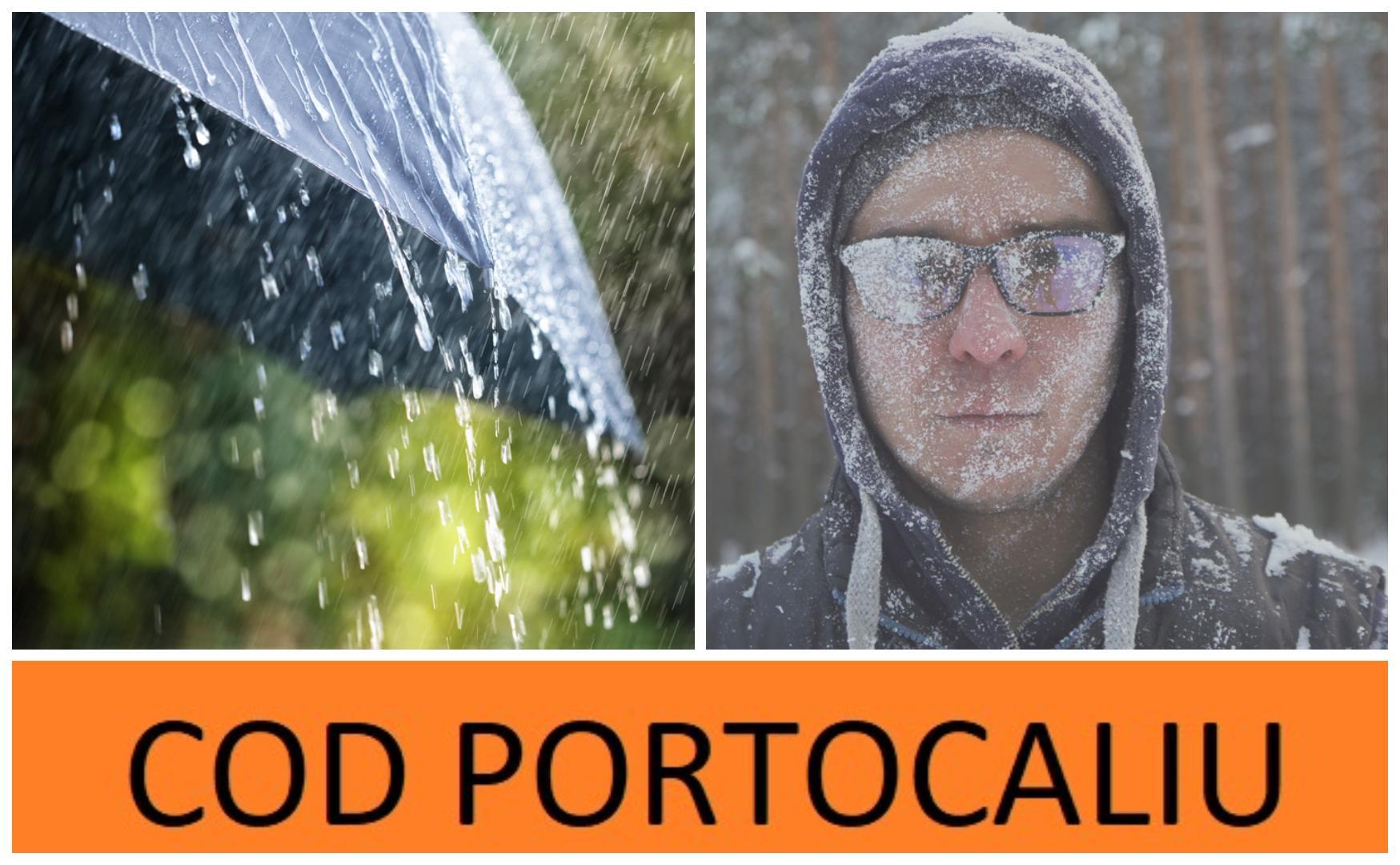 Alertă Meteo! Cod portocaliu și cod galben de viscol, ploi și ninsori! Până când este valabilă avertizarea meteorologilor