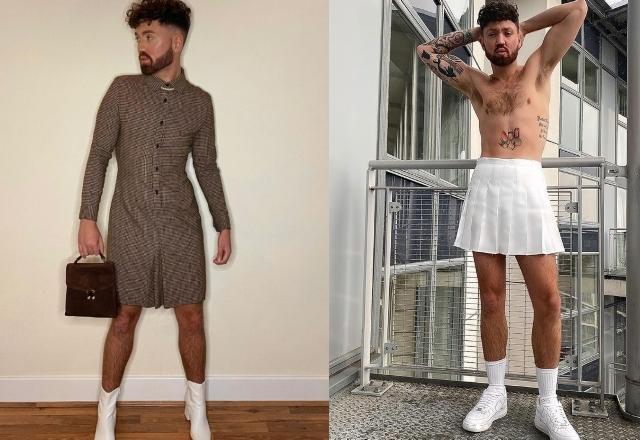 """""""Băiatul în rochie"""" care a decis să poarte fuste la 26 de ani. De ce a renunțat la pantaloni"""