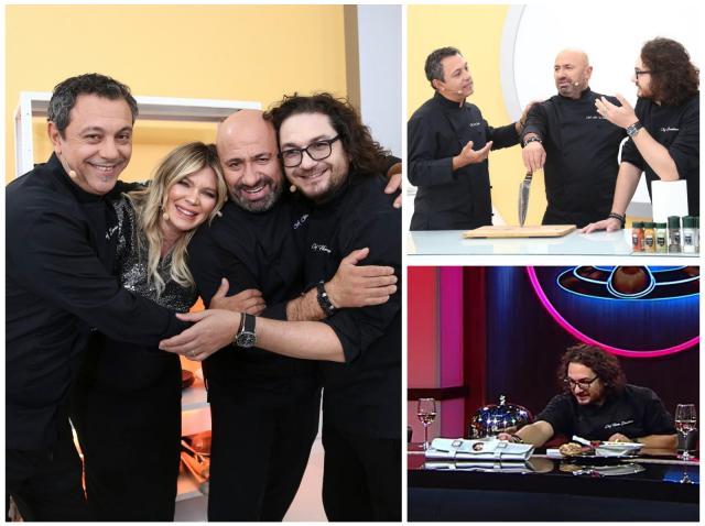 Sorin Bontea, Cătălin Scărlătescu, Florin Dumitrescu și Gina Pistol, în sezonul 9 Chefi la cuțite