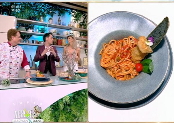 Rețetă de post: Spaghete cu sos de roșii și ciuperci pane