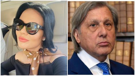 Colaj cu Ilie Năstase, purtând sacou, și Ioana Năstase, purtând o bluză neagră și ochelari de soare