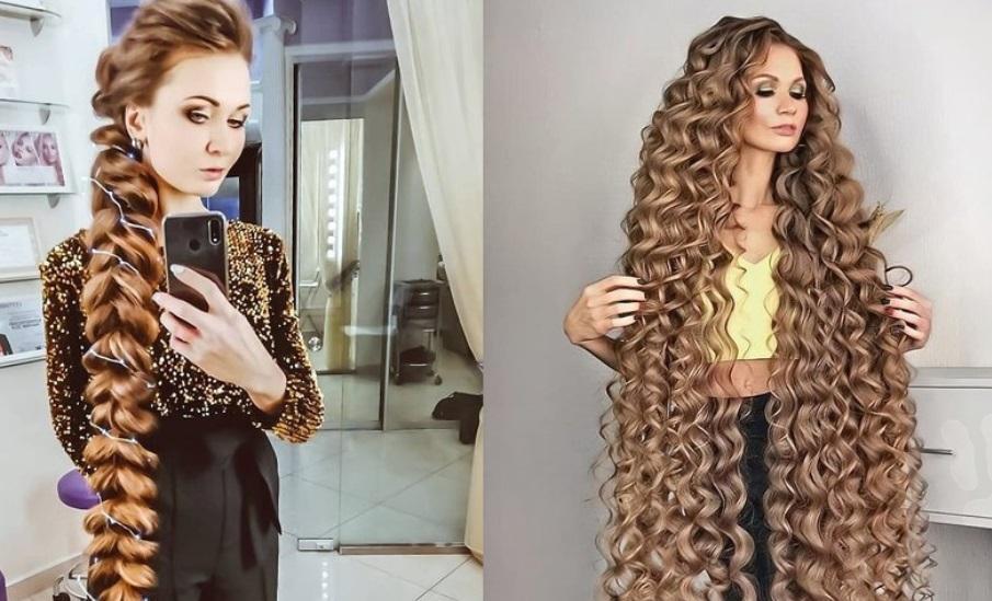 Daria Gubanova e femeia cu păr lung de aproape 2 metri! Ce secret folosește ca să arate așa