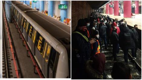Circulația metrourilor a fost oprită în urma unui protest spontan. Sindicaliștii au coborât pe șine