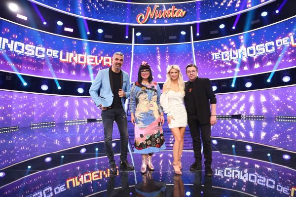 Jurații TCDU: Aurelian Temișan, Ozana Barabancea, Andreea Bălan și Cristi Iacob, în platoul emisiunii
