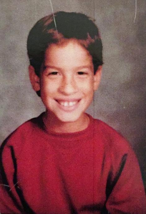 Jason Torres pe vremea când era copil