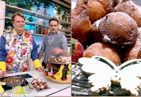 Răzvan și Vlăduț prezintă gogoșile cu iaurt, preparate de Vlăduț