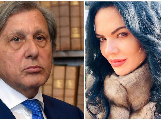 Colaj cu Ilie Năstase, purtând sacou, și Ioana Năstase, purtând o haină de blană