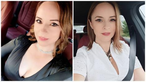 Andreea Marin într-o bluză albă și una neagră