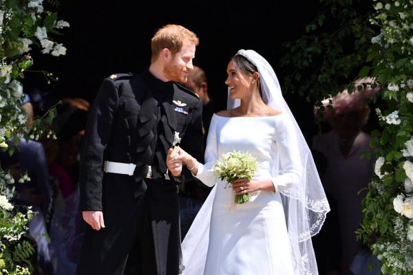 Meghan Markle și Prințul Harry la nunta