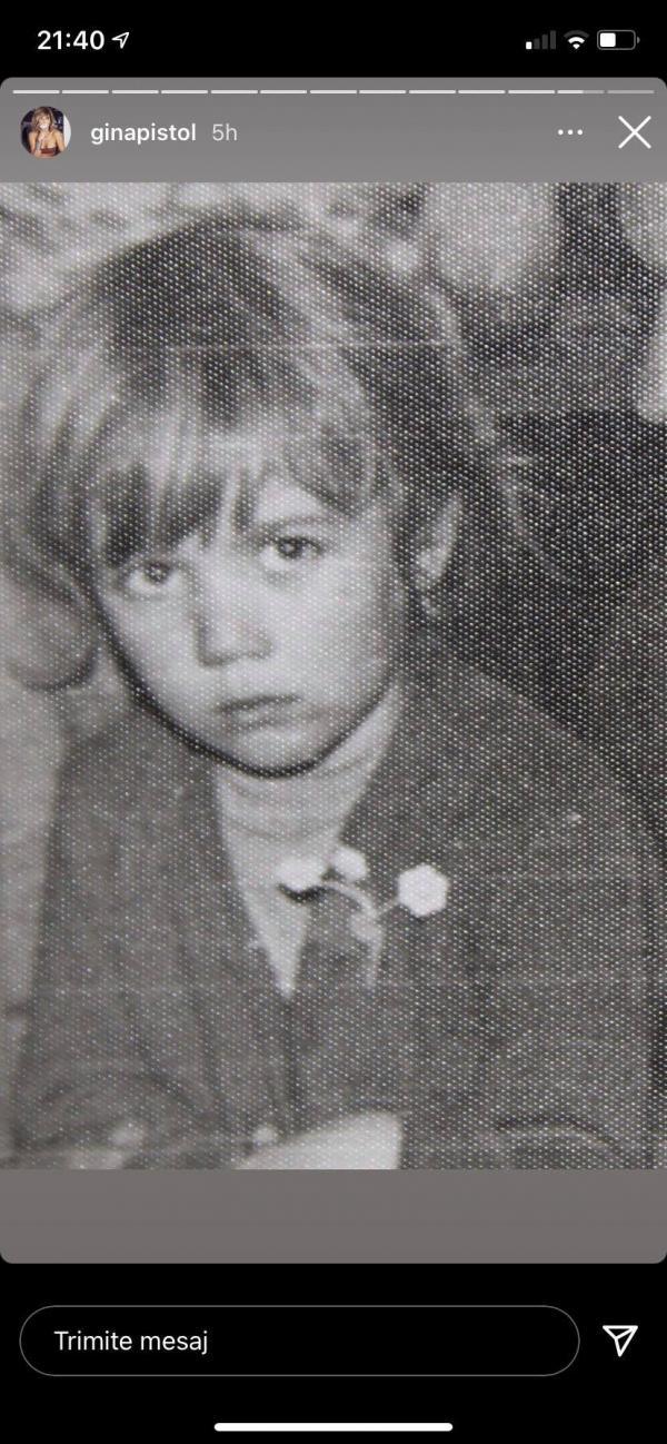 Gina Pistol în copilărie