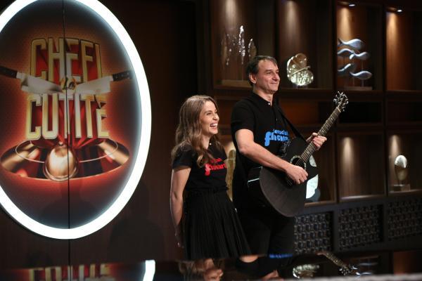 Andrei Păunescu și Maria Măgirescu în fața juraților chefi la cuțite