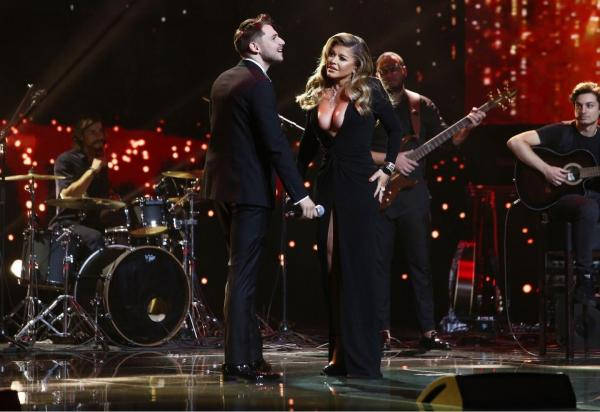 Loredana Groza și Adrian Petrache pe scena X Factor